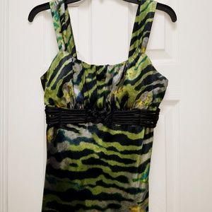 Silky, jade/black camisole top